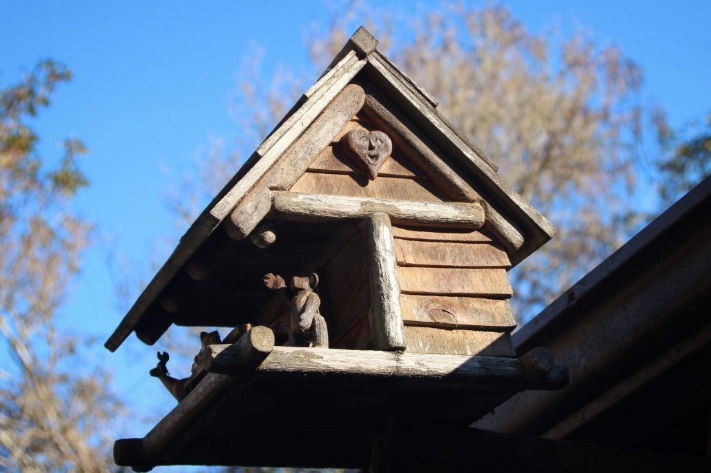 Bird House with Laughing Heart