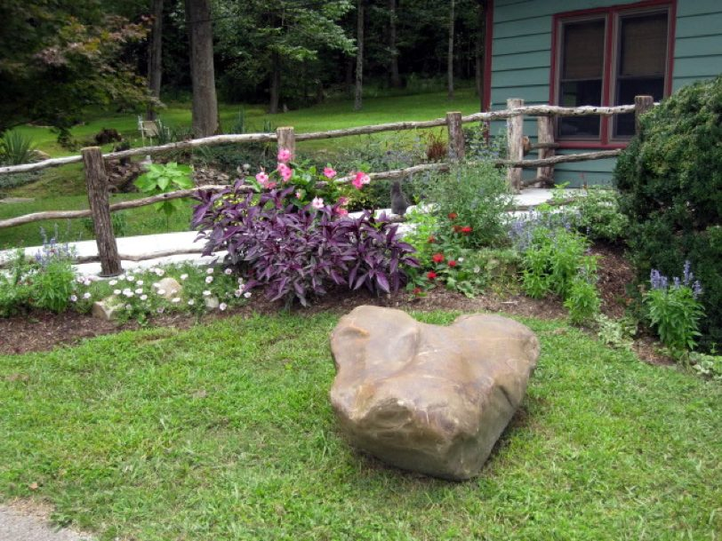 Garden Area & Large Rock
